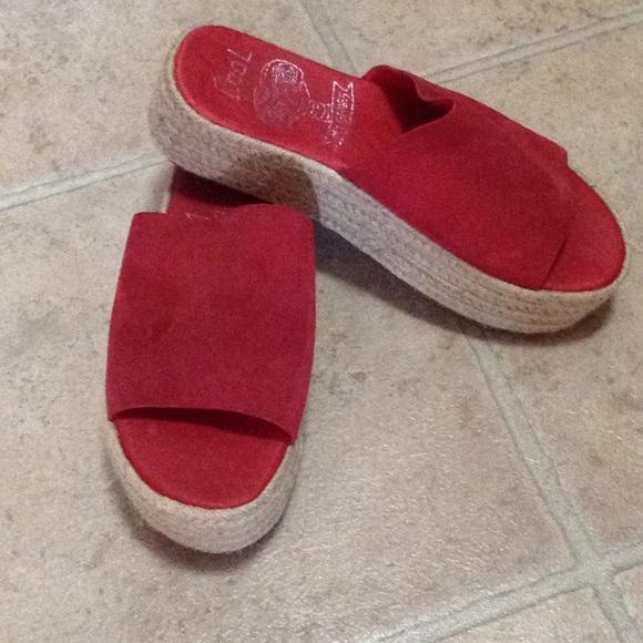 DSW Shoes | Red Platform Espadrilles
